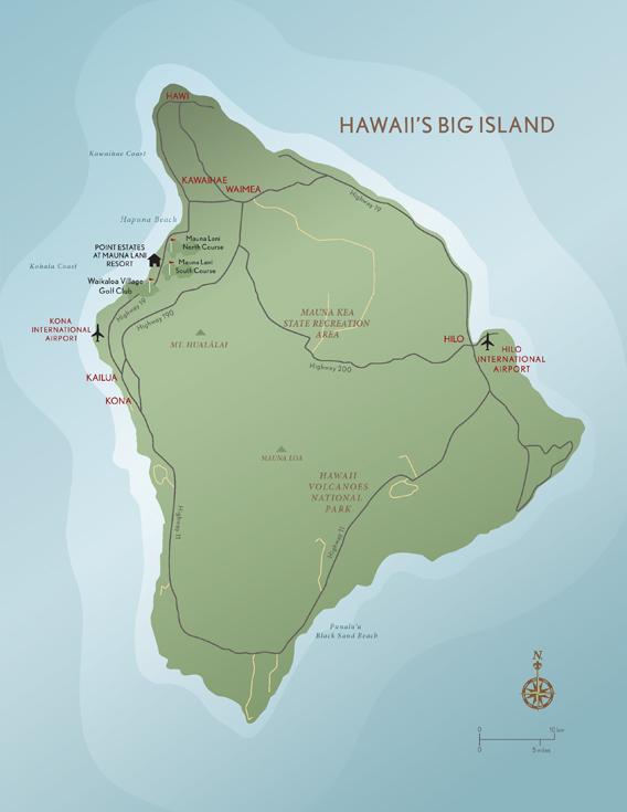 Kohala Coast Hawaii Map.Abercrombie Kent Residence Club Point Estates At Mauna Lani